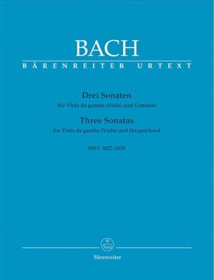 BACH - 3 Sonaten for Viola da gamba Viola and Cembalo BWV 1027-1029 - Sheet Music - di-arezzo.com