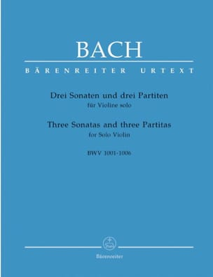 BACH - Sonatas and Partitas - Violin Only - Sheet Music - di-arezzo.co.uk