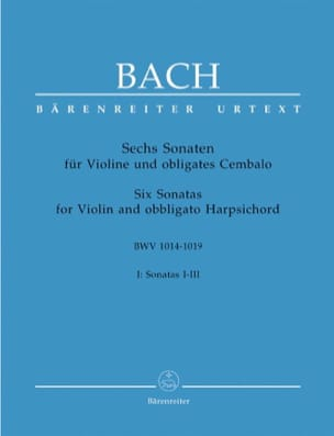 BACH - 6 Sonaten BWV 1014-1019, Band 1 - Sheet Music - di-arezzo.co.uk