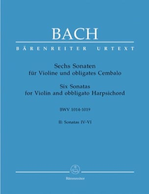 6 Sonaten BWV 1014-1019, Band 2 BACH Partition Violon - laflutedepan