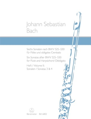 BACH - 6 Sonates d' après les BWV 525-530 - volume 2 - flute et clavecin - Partition - di-arezzo.fr