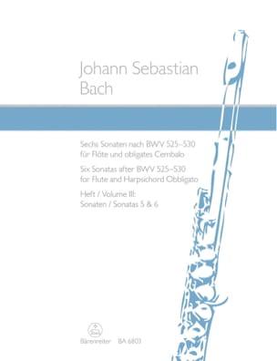 Johann Sebastian Bach - 6 Sonaten Nach BWV 525-530 - Bd. 3 – Flöte U. Cembalo - Partition - di-arezzo.fr