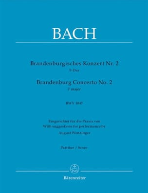 BACH - Brandenburgisches Konzert Nr. 2 F-dur, BWV 1047 - Driver - Sheet Music - di-arezzo.co.uk