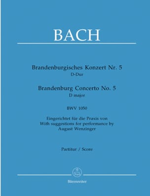 BACH - Brandenburgisches Konzert Nr. 5 D-dur - Partitur - Sheet Music - di-arezzo.co.uk