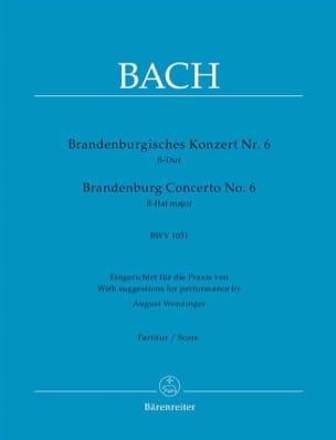 BACH - Brandenburgisches Konzert Nr. 6, B-Dur BWV 1051 - Partition - di-arezzo.fr