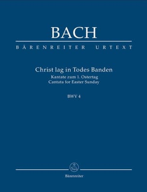 BACH - Christ Lag In Todesbanden, Cantate BWV 4. Urtext - Conducteur - Partition - di-arezzo.fr