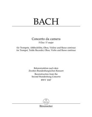 Johann Sebastian Bach - Concerto da Camera F-Dur –Trompete Altblockflöte Oboe Violine BC - Partition - di-arezzo.fr