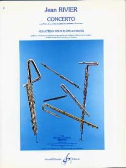 Concerto pour flûte - Flûte piano Jean Rivier Partition laflutedepan