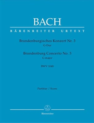Johann Sebastian Bach - Brandenburgisches Konzert Nr. 3 G-dur BWV 1048 – Conducteur - Partition - di-arezzo.fr