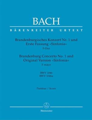 Brandenburgisches Konzert Nr. 1 F-dur BWV 1046 / Erste Fassung Sinfonia 1046a - laflutedepan.com