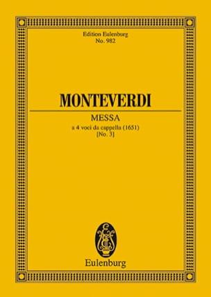 Claudio Monteverdi - Messe Nr. 3 g-Moll - Partition - di-arezzo.fr
