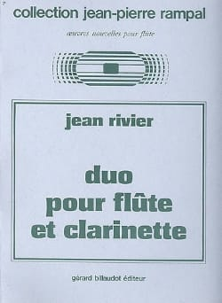 Jean Rivier - Duet for flute and clarinet - Sheet Music - di-arezzo.com
