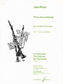 Trois mouvements - Volume 1 Jean Rivier Partition laflutedepan