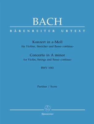 Johann Sebastian Bach - Konzert A-Moll BWV 1041 – Partitur - Partition - di-arezzo.fr