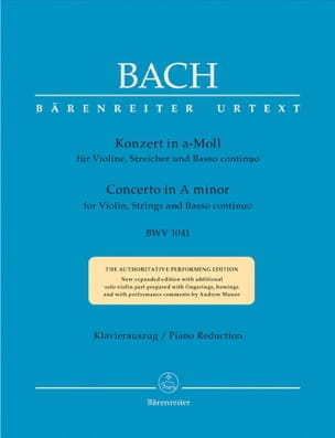 BACH - Violin Concerto in A minor BWV 1041 - Violin piano - Sheet Music - di-arezzo.co.uk