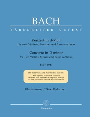 BACH - Concerto in D Minor BWV 1043 - Sheet Music - di-arezzo.co.uk
