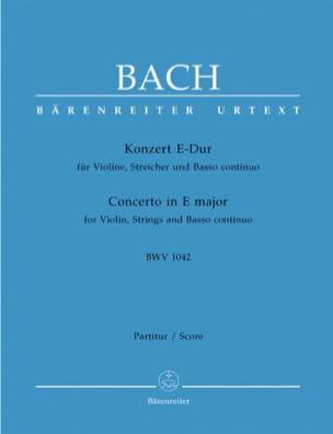 Johann Sebastian Bach - Konzert E-Dur BWV 1042 - Violine – Conducteur - Partition - di-arezzo.fr