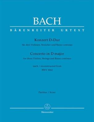 BACH - Konzert D-Dur for 3 Violinen nach BWV 1064 - Sheet Music - di-arezzo.co.uk
