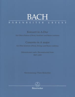 BACH - Konzert A-Hard nach BWV 1055 for Oboe Oboe - Klavierauszug - Sheet Music - di-arezzo.co.uk