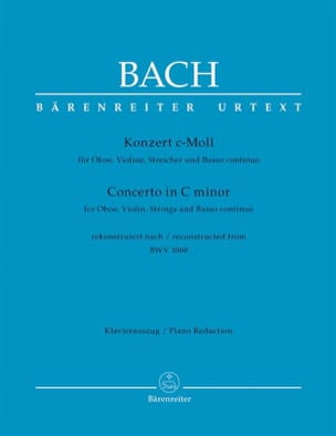 Johann Sebastian Bach - Konzert c-moll nach BWV 1060 – Oboe Violine Klavier - Partition - di-arezzo.fr