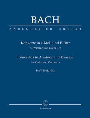 Johann Sebastian Bach - Konzerte a-moll BWV 1041 und E-Dur BWV 1042 für Violine, Streicher und Bc.Urtext - Partition - di-arezzo.fr