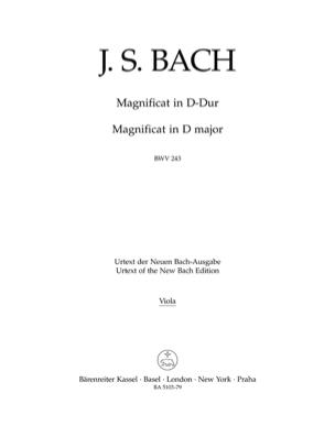 Johann Sebastian Bach - Magnificat mit 4 Einlagesätzen der Es-Dur-Fassung BWV 243a D-Dur - Partition - di-arezzo.fr