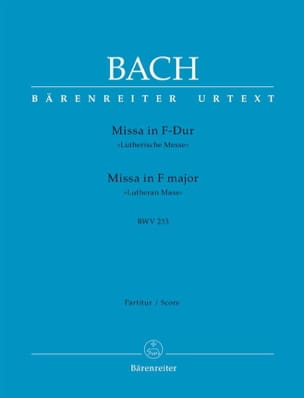 BACH - Missa F-dur Lutherische Messe BWV 233 - Driver - Sheet Music - di-arezzo.co.uk