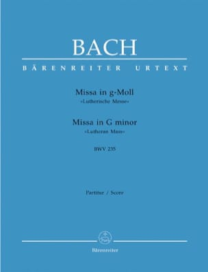 BACH - Missa g-moll (Lutherische Messe) BWV 235 - Conducteur - Partition - di-arezzo.fr