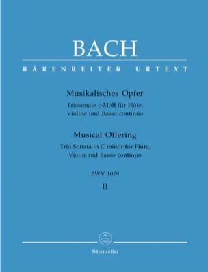 BACH - Musikalisches Opfer Bd. 2: Triosonate c-moll - Violin Flute Bc - Partition - di-arezzo.com