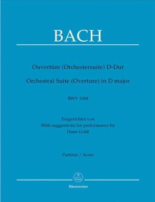 BACH - Ouvertüre Orchestersuite D-dur BWV 1068 - Partition - di-arezzo.fr