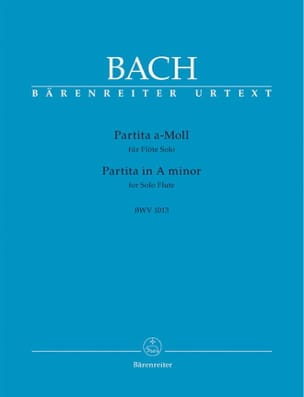 BACH - Partita in A minor BWV 1013 - Sheet Music - di-arezzo.com