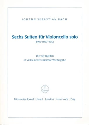 BACH - Sechs Suiten Für Violoncello Solo BWV 1007-1012 - Partition - di-arezzo.fr