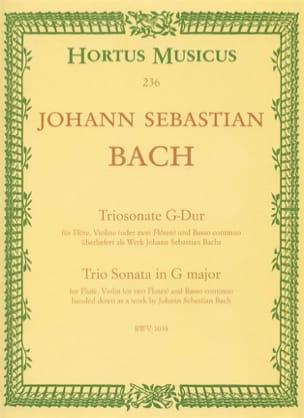 Johann Sebastian Bach - Triosonate G-Dur (BWV 1038) – Flöte Violine (o. 2 Flöten) u. Bc - Partition - di-arezzo.fr