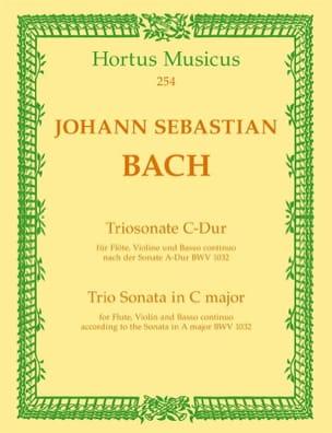 Triosonate C-Dur (nach Sonate BWV 1032) – Flöte Violine u. Bc - laflutedepan.com