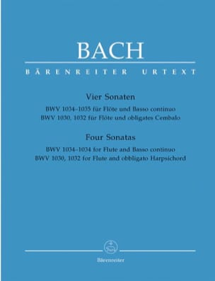 BACH - Sonatas for Flute and Harpsichord or Basso continuo - Sheet Music - di-arezzo.com