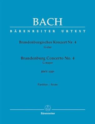 Brandenburgisches Konzert Nr. 4 G-dur, BWV 1049 - Conducteur - laflutedepan.com