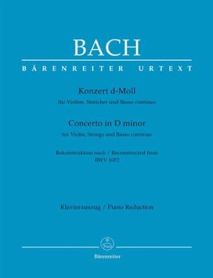 BACH - Konzert für Violine, d-moll nach BWV 1052 Cembalo-Konzert d-moll. - Sheet Music - di-arezzo.co.uk