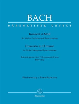 Johann Sebastian Bach - Konzert für Violine, d-moll nach BWV 1052 (Cembalo-Konzert d-moll). - Partition - di-arezzo.fr