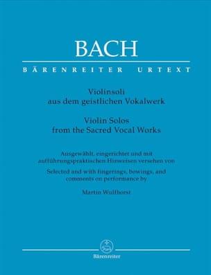 Johann Sebastian Bach - Violinsoli aus dem geistlichen Vokalwerk - Partition - di-arezzo.fr