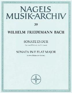 Wilhelm Friedemann Bach - Sonate Es-Dur – 2 Flöten (o. Violine) - Partition - di-arezzo.fr