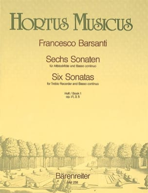 6 Sonaten - Heft 1 - Altblockflöte u. Bc - laflutedepan.com