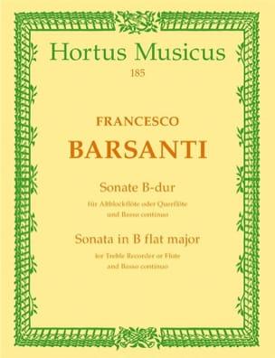 Francesco Barsanti - Sonate B-Dur - Altblockflöte (Querflöte) - Partition - di-arezzo.fr