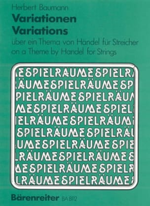 Variationen über ein Thema von Händel für Streicher -Partitur + Stimmen laflutedepan