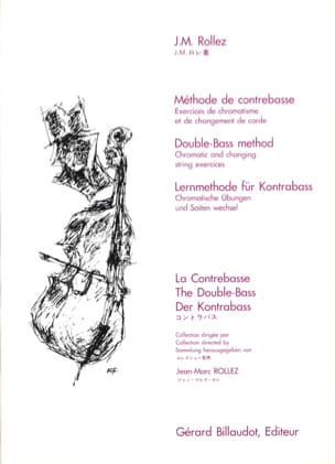 Jean-Marc Rollez - Double bass method - Sheet Music - di-arezzo.co.uk