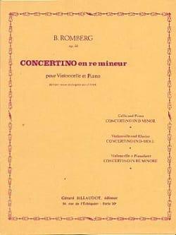 Bernhard Romberg - Concertino en ré mineur op. 51 - Partition - di-arezzo.fr