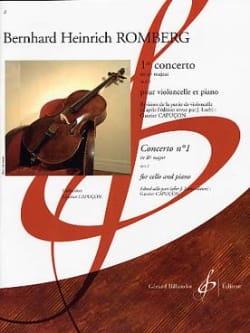 Concerto N° 1 en Si Bémol Majeur Op. 2 ROMBERG Partition laflutedepan