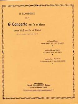 Bernhard Romberg - Concerto n° 6 en fa majeur op. 31 - Partition - di-arezzo.fr