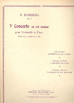 Bernhard Romberg - Concerto No. 3 in G major op. 6 - Sheet Music - di-arezzo.co.uk