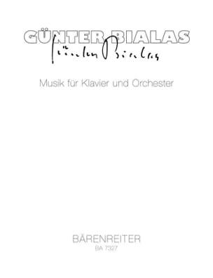 Günter Bialas - Musik für Klavier und Orchester - Partition - di-arezzo.fr
