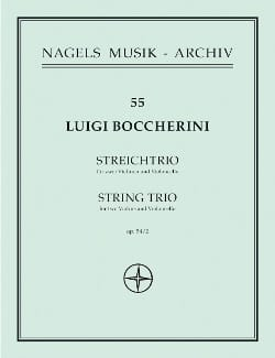 BOCCHERINI - Trio for Violinen und Violoncello op. 54 Nr. 2 - Stimmen - Sheet Music - di-arezzo.co.uk